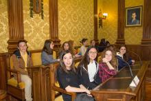 Recepción en el Ayuntamiento, 14 de abril