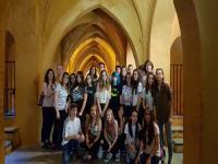 Baños de María Padilla en Reales Alcázares de Sevilla con 3ºESO, curso 17-18.