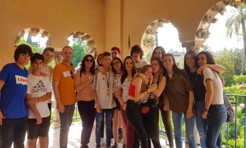 Reales Alcázares de Sevilla con 3ºESO, curso 17-18.