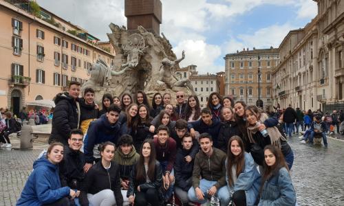 Piazza Navona, Fontana dei Quattro Fiumi, Roma, alumnos 1ºBachillerato 2019, Religión.